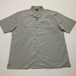 Oakley Mens Short Sleeve Metal Button Front